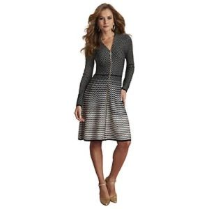 Masseys Zip Up Sweater Dress